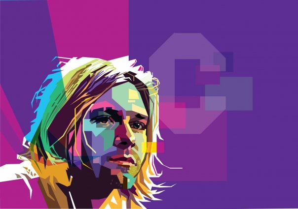 Kurt Cobain in WPAP by Wedha