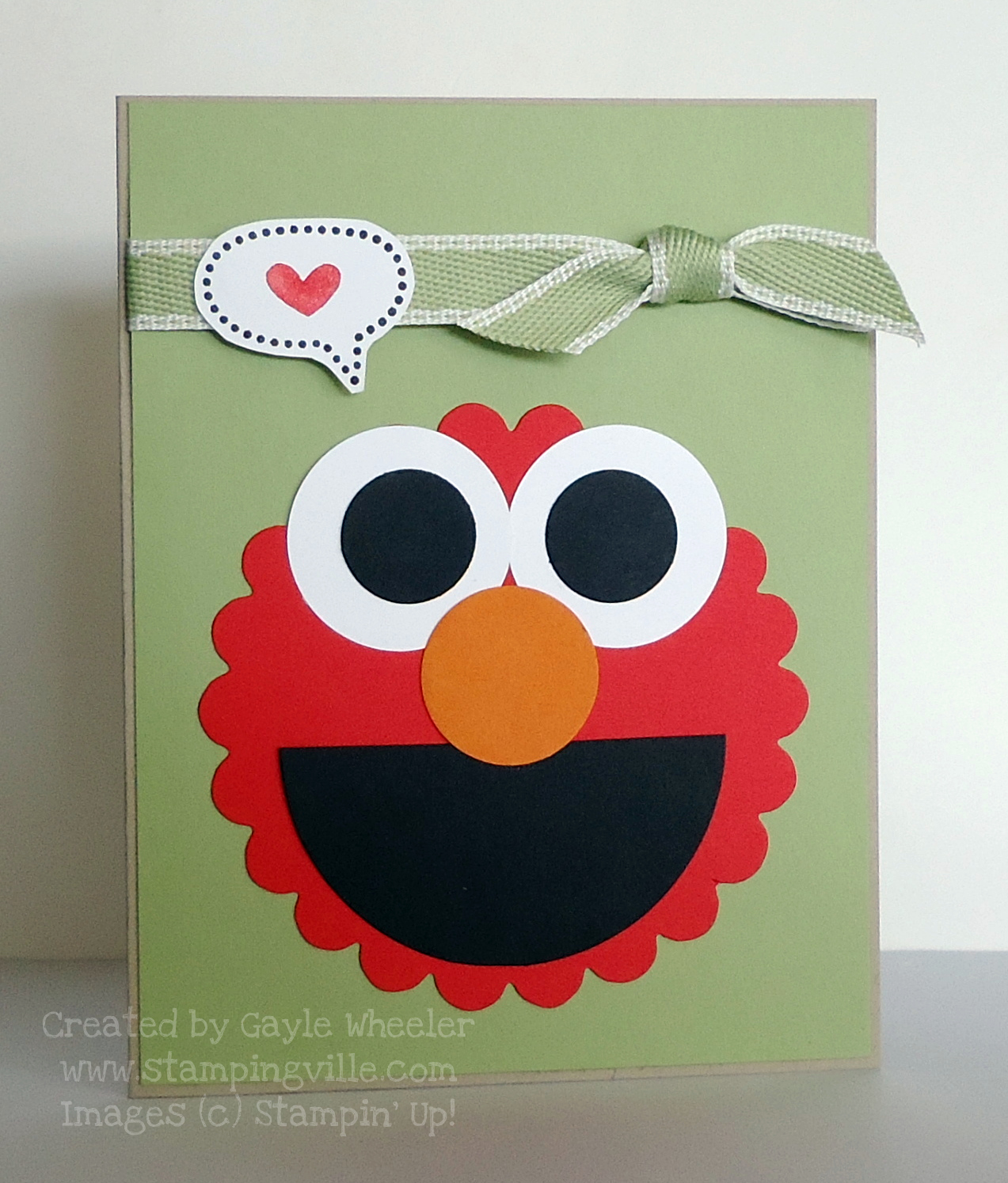 Easy card making using craft punches for Elmo arts and crafts
