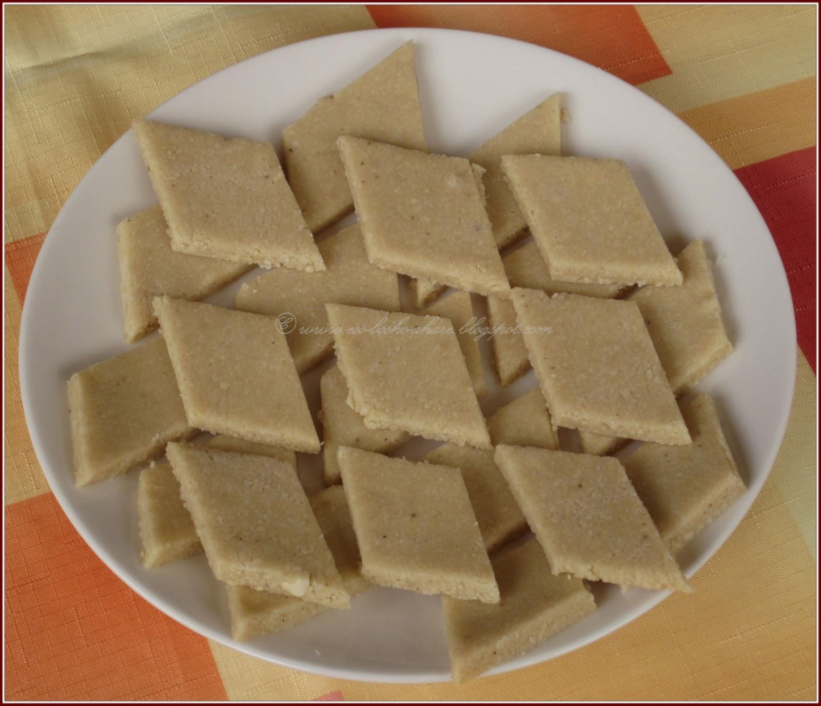 how to make kaju barfi recipe