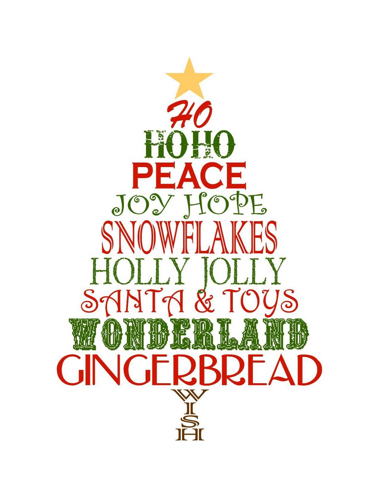 free christmas printables to use as decor - Christmas Card Print Out