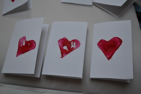 The Active Toddler Valentine Craft or Cards Potato Heart Prints – Toddler Valentine Cards