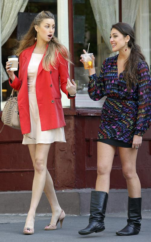 Whitney port and roxy olin filming the city