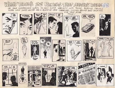 Wallace Wood Comic Book Layouts Cheat Sheet 22 Panels That Always Work by Wally Wood