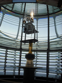 Lamp inside Yaquina Lighthouse