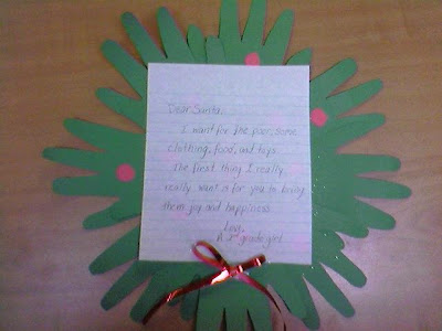 NAMC montessori moments giving spirit holiday christmas santa letters