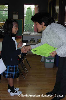 NAMC montessori teacher and student choosing the right montessori school parent's guide