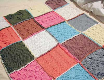 Knitted Squares Pattern : AdventureLisa: Whip out those knitting needles