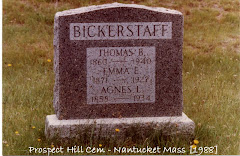 BICKERSTAFF HEADSTONE