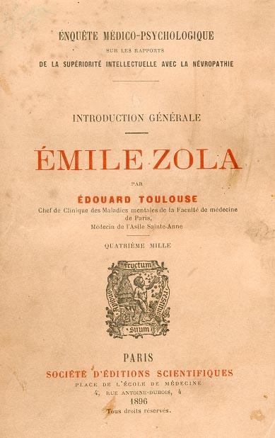 Émile Zola par Édouard Toulouse