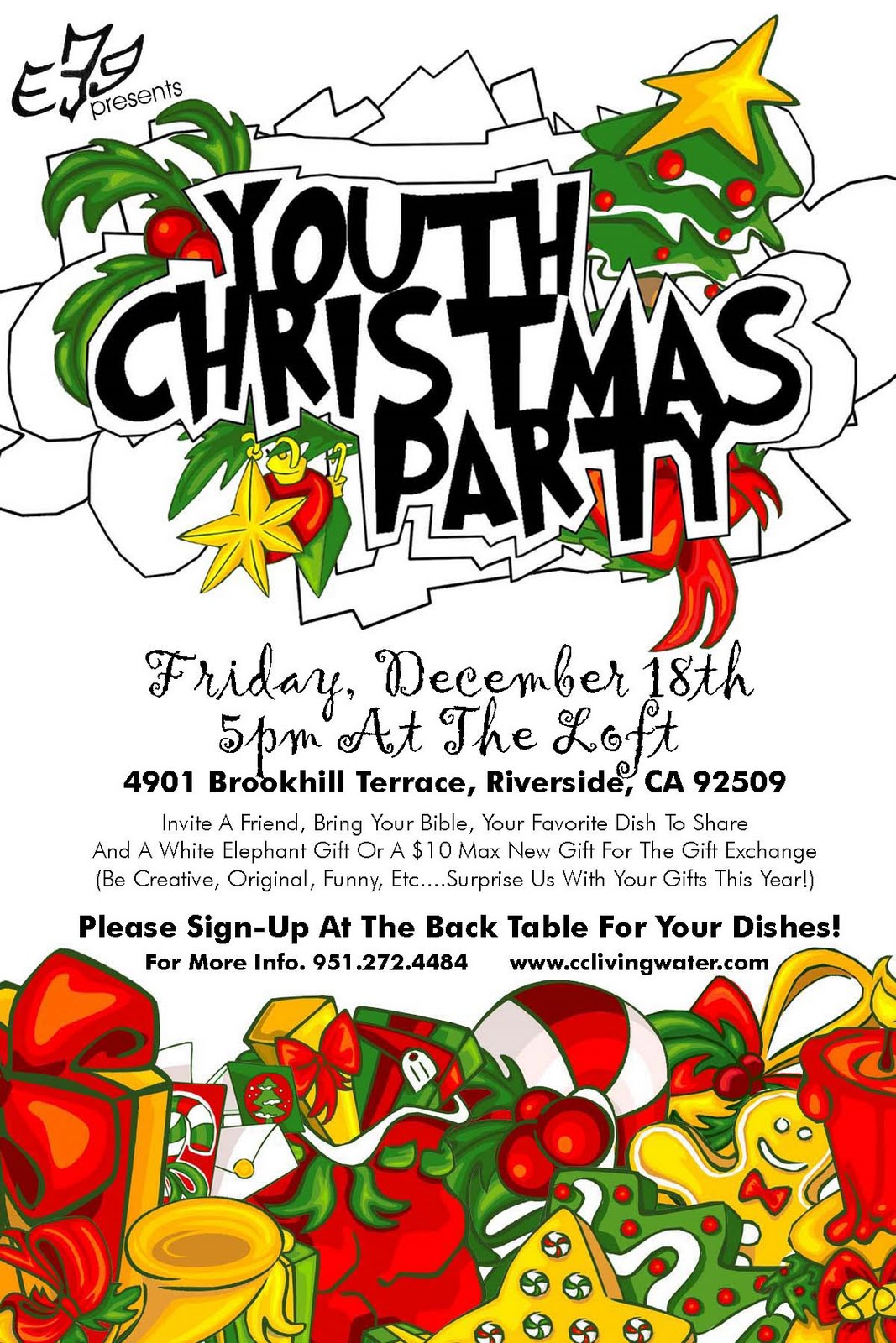 zero designs fliers posters flier for e3g youth s christmas party 2009