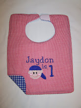 Baseball boy Bib with name and age
