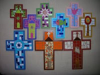 Originales Mosaicos para tus santitos...