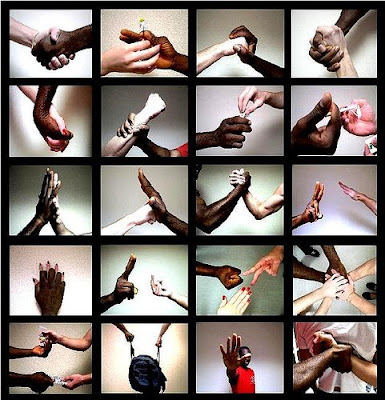holding hands collage