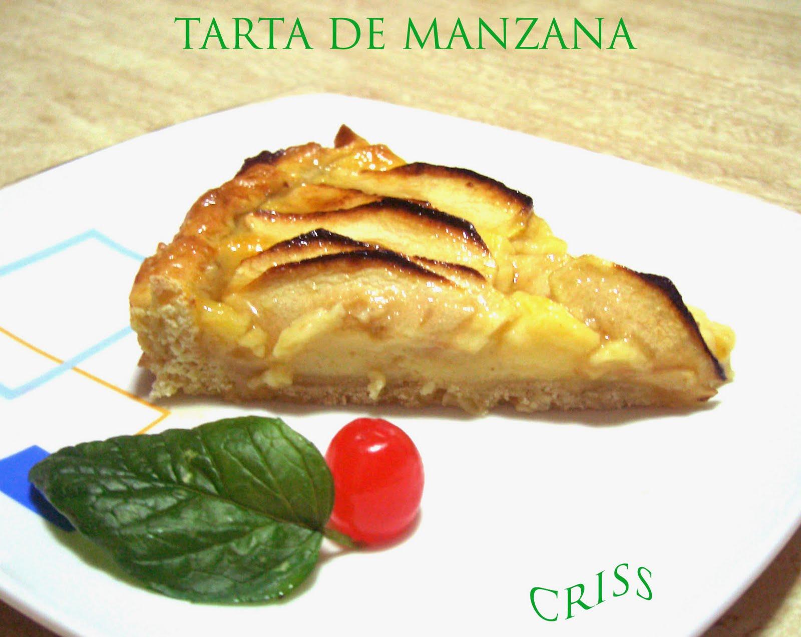 TARTA DE MANZANZA Y LIMÓN