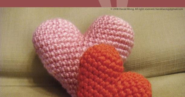 Big Heart Amigurumi Pattern : :: Harugurumi ::: Amigurumi Heart Pattern