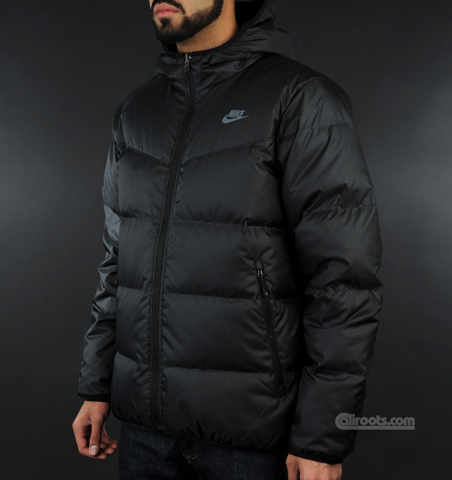 nike quilted down puffer coat hood | Spin Creative