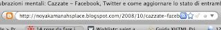 TwitterBar mette un pallino grigio a destra nella barra dell'indirizzo, cliccando il quale aggiornerete Twitter.