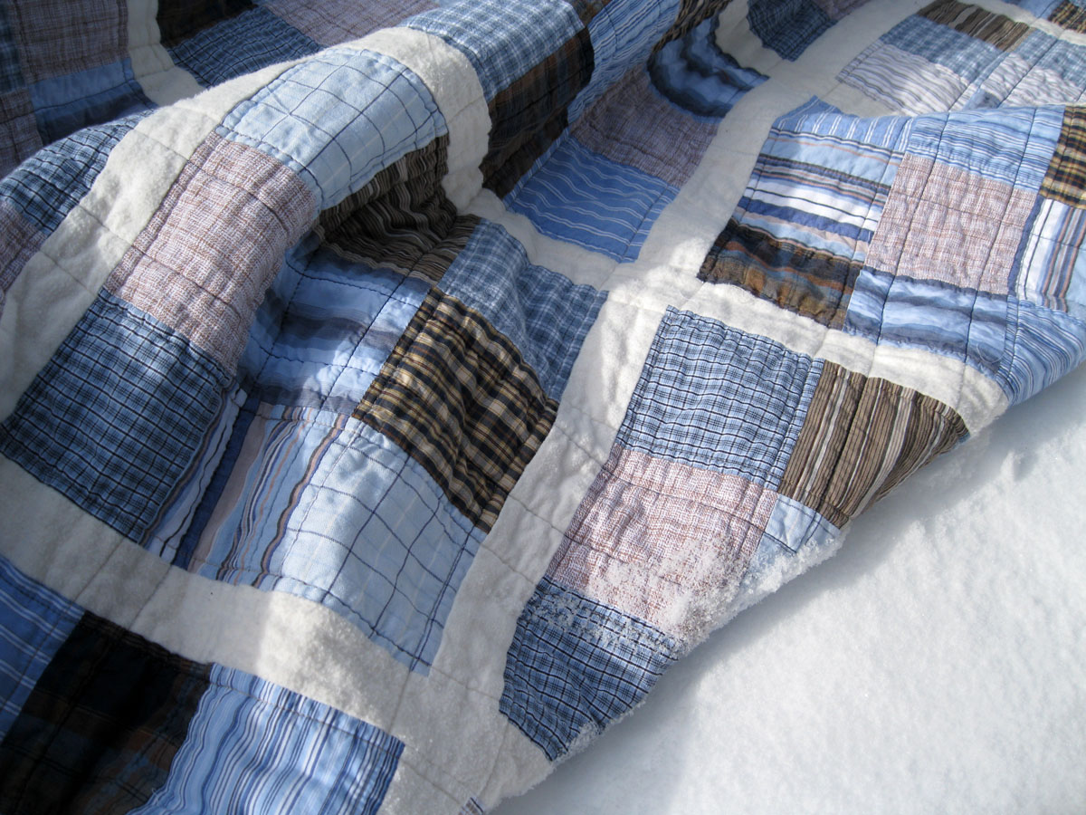 Quilt Patterns From Men S Shirts : Piece and Press: The shirting quilt