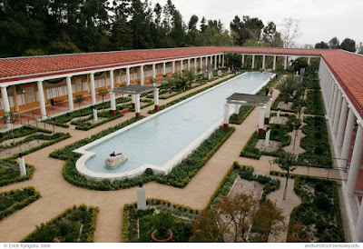 The Getty Villa, a 1:1 recreation of the Villa of the Papyri, the most luxurious villa in Herculaneum