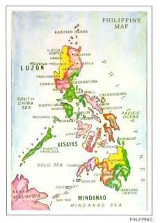 The world thru postcards philippine map postcard philippine map postcard gumiabroncs Gallery