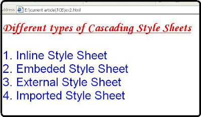 Cascading inline external imported embedded style sheet.