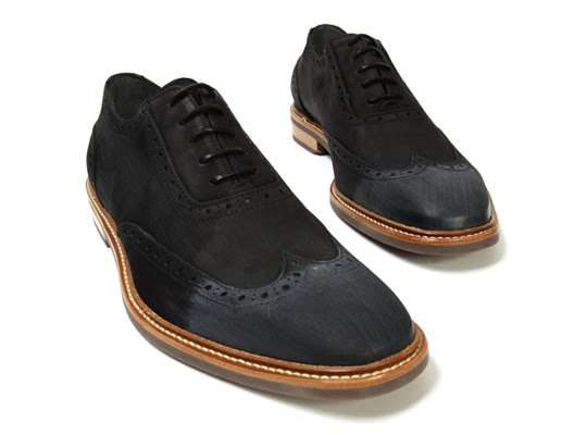 looking for black shoes with brown leather soles