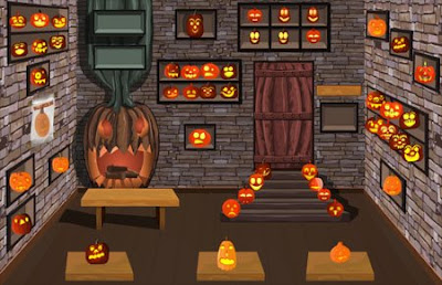Halloween Pumpkin Room Walkthrough, solution, cheats, codes, help