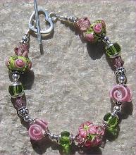 Pink and Green Garden Bracelet