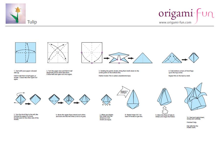 El Tulipán en origami