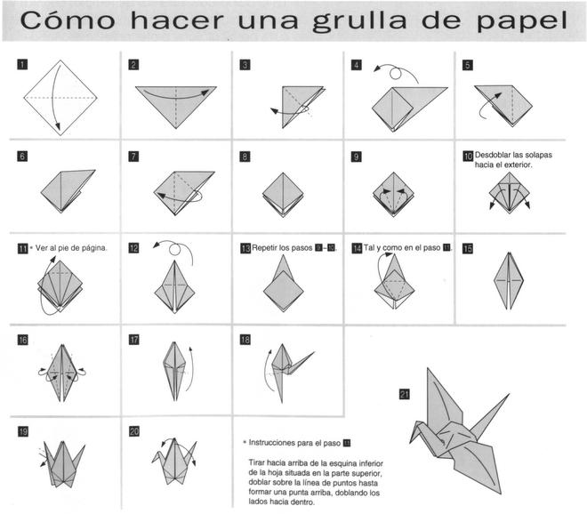 las grullas de la paz historia y diagrama cerezos en papel On como hacer una grulla de papel