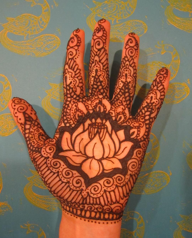 Mehndi Patterns Lotus : Lotus mehndi jennifer mazzucco
