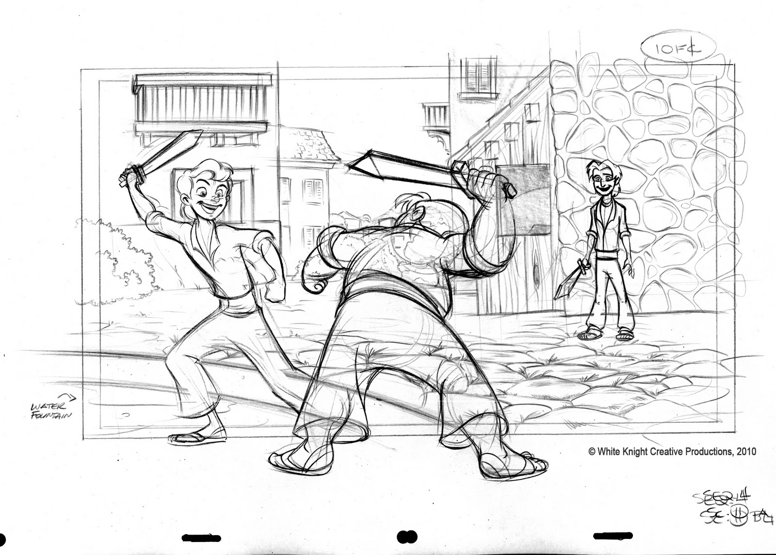 These Are Examples Of The Layout Work Done By Golden Street Animation Productions In 2010 On A Variety Shows