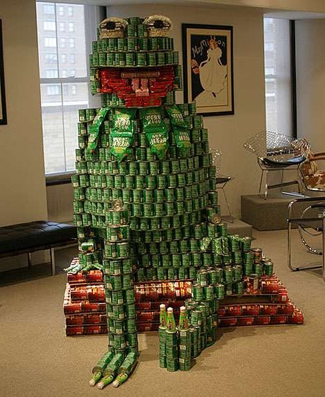 Cool Canned Food Sculptures