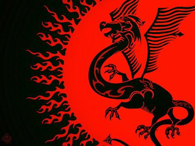 dragons wallpaper. Red Dragon vs Gren Dragon HQ