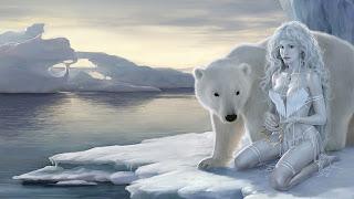 Ice Beauty Polar Queen Bear Frosted 3D Art HD Wallpaper