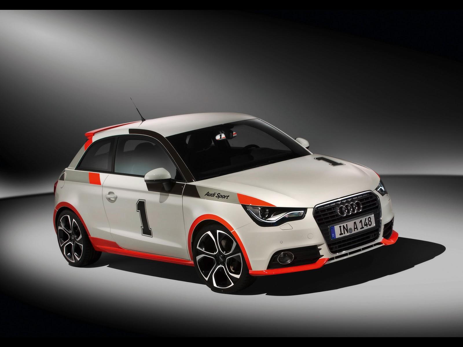 White Orange Audi A1 Race Tuning Wall Box