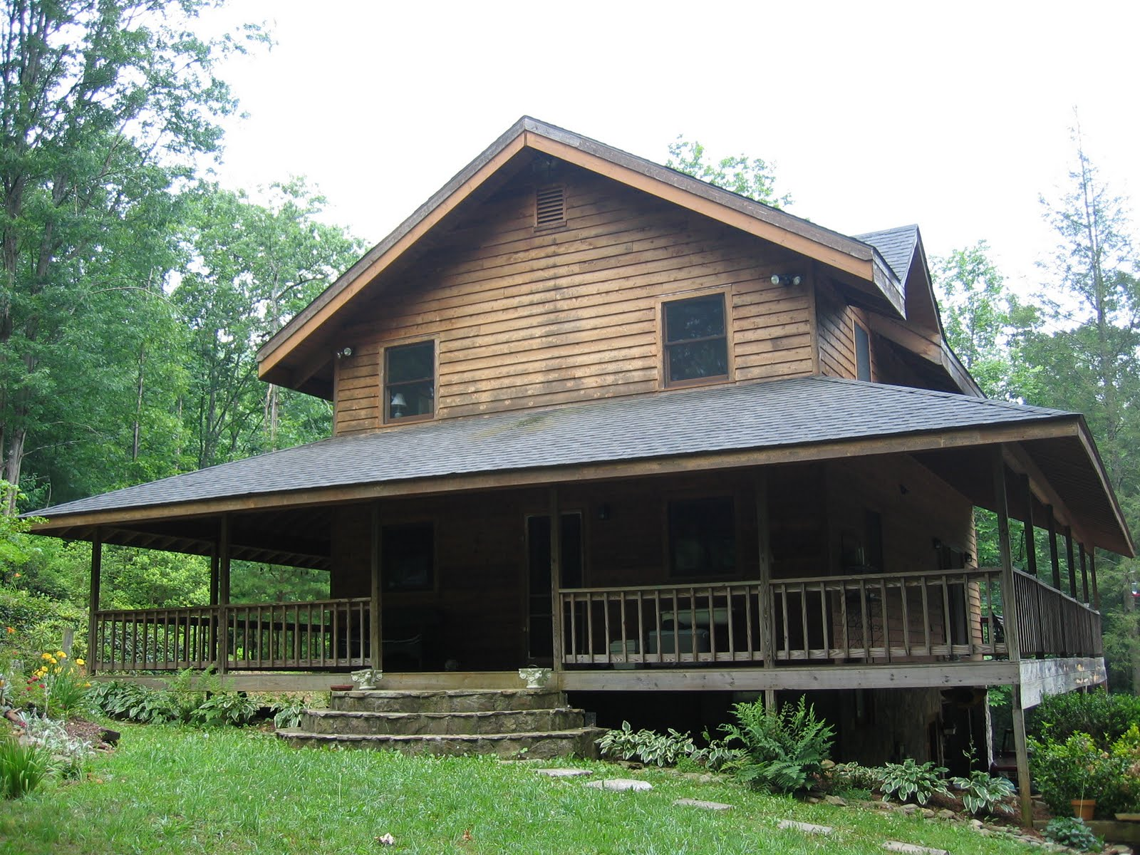 Tate city ga cabin for sale in tate city georgia for Cabin with wrap around porch