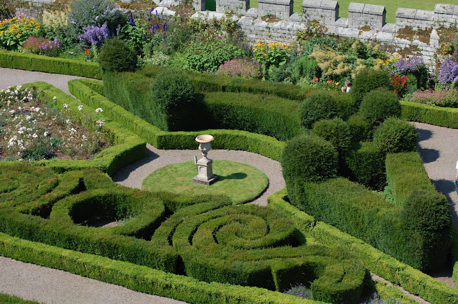 The Italian Garden at Chillingham Castle