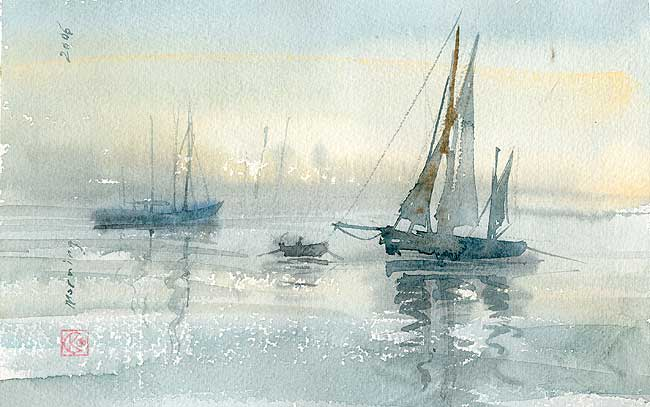 Dry Fog Painting : Art of watercolor how to create transparency