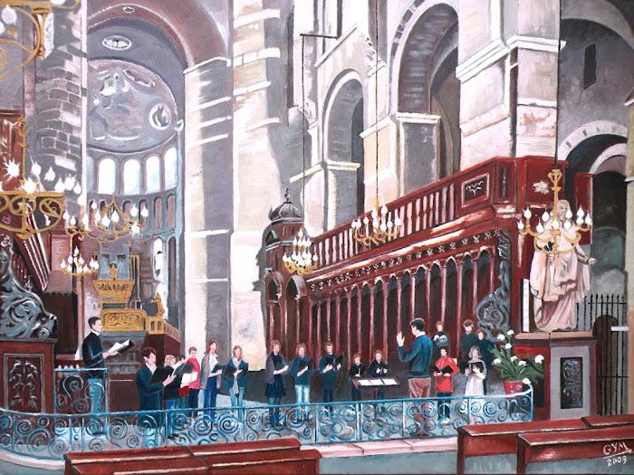 Répétition d'une chorale à St Sernin-2009