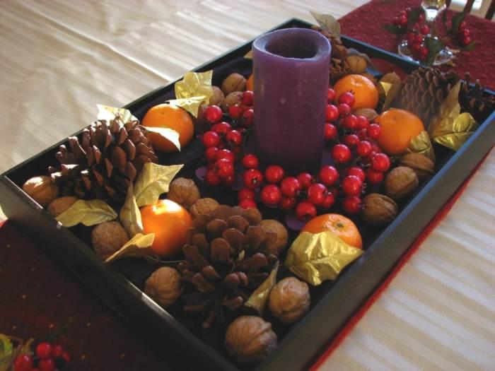 Ideas para dise ar centros de mesa arreglos con frutas - Frutas artificiales para decoracion ...