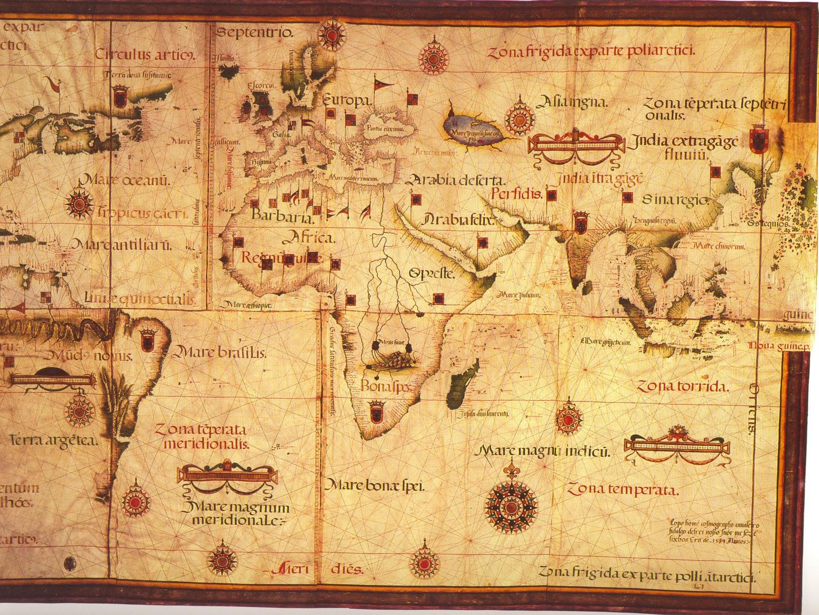 Mundi Antiguo Mapa Mundi Antiguo de 1554