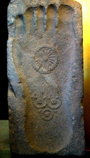 Footprint of the Buddha - http://commons.wikimedia.org/wiki/Image:Buddha-Footprint.jpeg