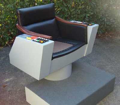 Back In December, I Blogged About A Fellow Who Built A Replica Of Captain  Kirku0027s Chair From Star Trek.