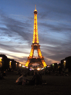 eiffel tower summer night paris