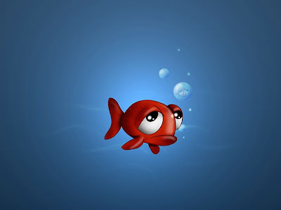 lonely fish wallpaper