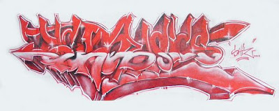 graffiti 3d style alphabet