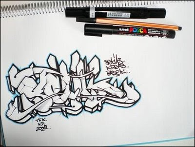 How To Draw Graffiti Characters By Wizard. Draw Graffiti Alphabet On