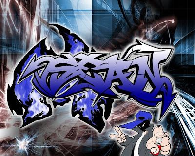 Digital Alphabet Graffiti Letters Fonts