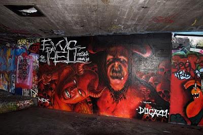 graffiti tribal. devil mural graffiti alphabet